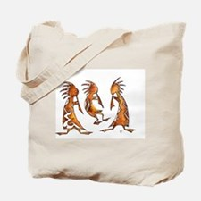 3 Kokopeli in Watercolor Tote Bag
