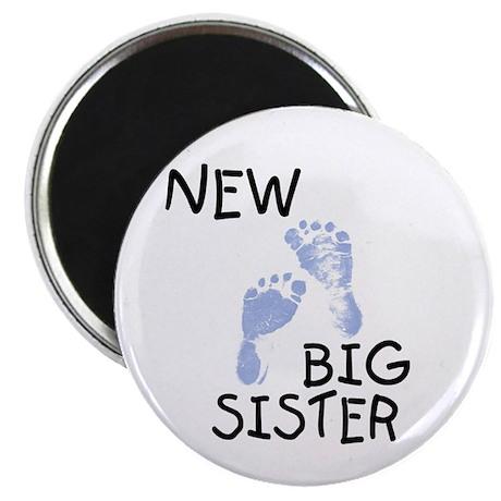 """New Big Sister (blue) 2.25"""" Magnet (100 pack)"""