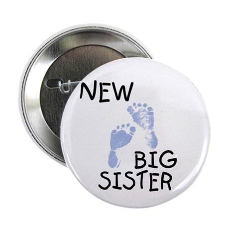 """New Big Sister (blue) 2.25"""" Button (100 pack)"""
