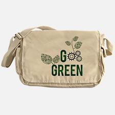 Go Green Square Messenger Bag