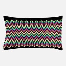 Colorful Chevron Black Pillow Case