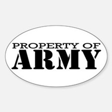Property of Army Oval Decal