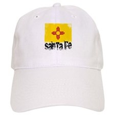 Santa Fe Grunge Flag Baseball Cap