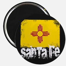 Santa Fe Grunge Flag Magnet