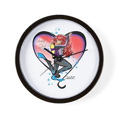 Scuba Girl Wall Clock