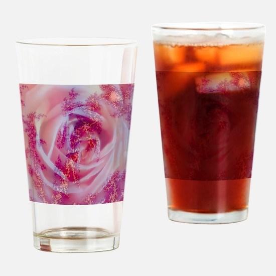 fractal rose Drinking Glass