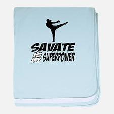 Savate is my Superpower baby blanket