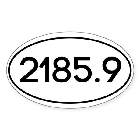 2185.9 Sticker (Oval)