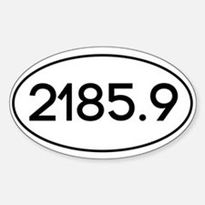 2185.9 Sticker (Oval)