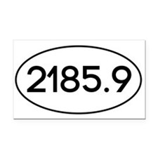 2185.9 Rectangle Car Magnet