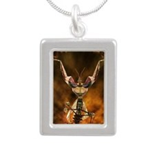 Mantiwar Silver Portrait Necklace