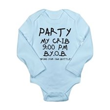 Party At My Crib Long Sleeve Infant Bodysuit