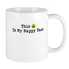 This is my happy face - mustache Mugs