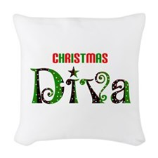 christmas diva Woven Throw Pillow