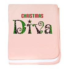 christmas diva baby blanket