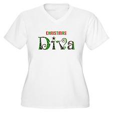 christmas diva Plus Size T-Shirt