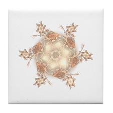 Pastel Peach Floral Dreams Kaleidosco Tile Coaster