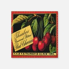 "Vintage Fruit Crate Label Square Sticker 3"" x 3"""