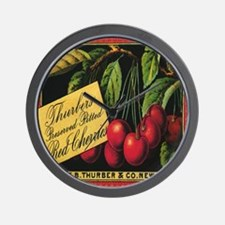 Vintage Fruit Crate Label Wall Clock