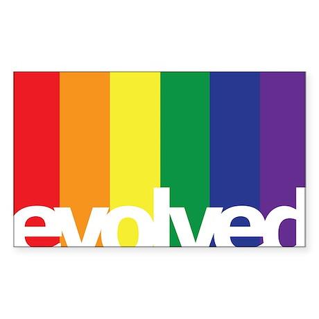Evolved LGBT Sticker