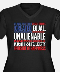 Declaration of Independence Plus Size T-Shirt