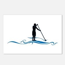 Stand Up Paddle-Waves Postcards (Package of 8)