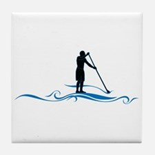 Stand Up Paddle-Waves Tile Coaster