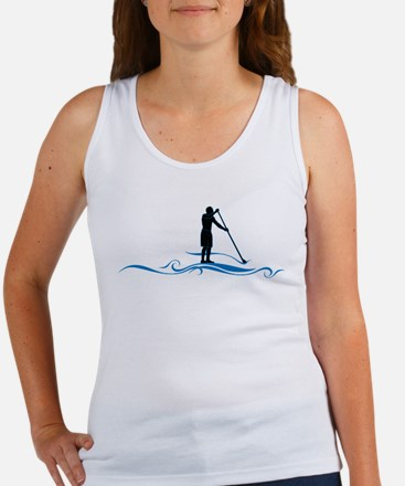 Stand Up Paddle-Waves Tank Top