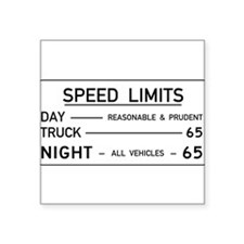 Speed Limit Reasonable and Prudent Sticker