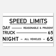 Speed Limit Reasonable and Prudent Postcards (Pack