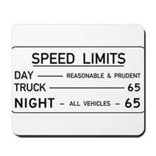 Speed Limit Reasonable and Prudent Mousepad