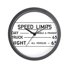Speed Limit Reasonable and Prudent Wall Clock