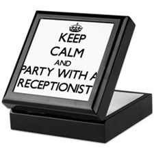Keep Calm and Party With a Receptionist Keepsake B