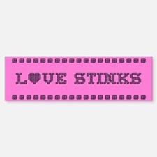 Love Stinks Bumper Bumper Bumper Sticker