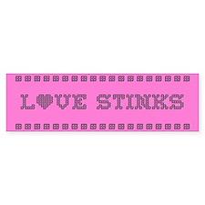 Love Stinks Bumper Bumper Sticker