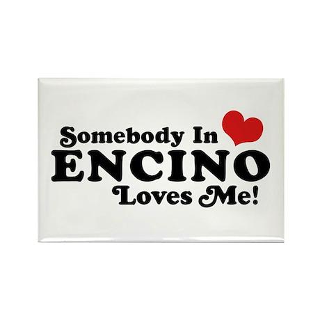 Encino California Rectangle Magnet