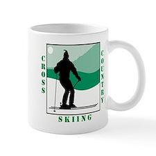 Cross County Skiing Green Logo Mug