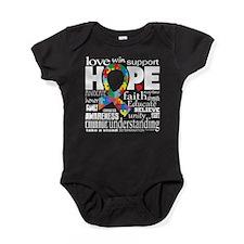 Autism Words Baby Bodysuit