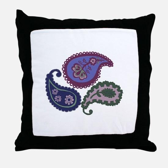 Textured Paisley Throw Pillow