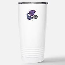 Textured Paisley Travel Mug