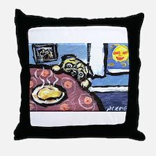 PUG chicken soup Throw Pillow