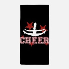 cheer black red Beach Towel