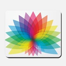 Rainbow flower Mousepad