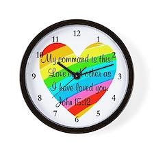 JOHN 15:12 Wall Clock