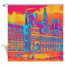 Pop Art Vintage Paris Hotel Shower Curtain