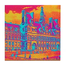 Pop Art Vintage Paris Hotel Tile Coaster