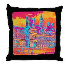 Pop Art Vintage Paris Hotel Throw Pillow
