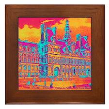 Pop Art Vintage Paris Hotel Framed Tile