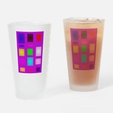 Rectangles Drinking Glass