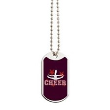 cheer red red Dog Tags